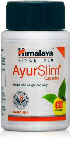 Аюрслим, натуральное средство для снижения веса, 60 кап, производитель Хималая; AyurSlim, 60 caps, Himalaya