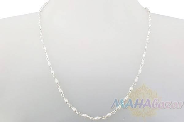 "Фото 9239: Бусы из жемчуга в серебре, 50 см, 8 гр., диаметр - 3 мм, Производитель ""Махабазар.ру"", Beads of pearls in silver, 50 cm, 8 gm, D - 3 mm, Mahabazar.ru"