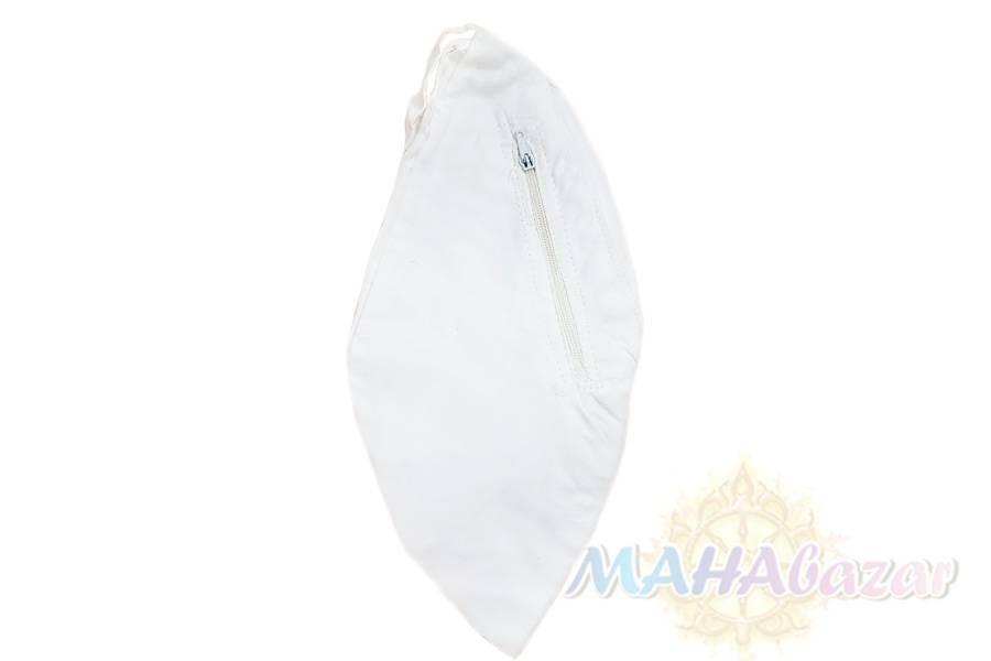 "Фото 4744: Мешочек для четок белый 26х13 см., производитель ""МАХАбазар.ру"", japa mala white bag, 26х13 cm. MAHAbazar.ru"