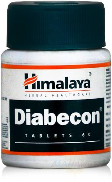 Диaбекон для лечения диабета, 60 таб, производитель Хималая; Diаbecon, 60 tabs, Himalaya