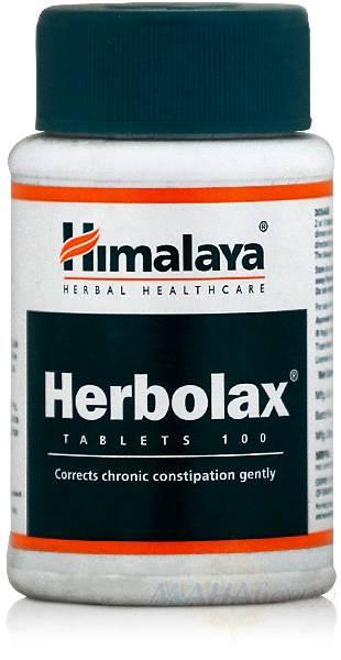 Херболакс, для очищения кишечника, 100 таб, производитель Хималая; Herbolax, 100 tabs, Himalaya