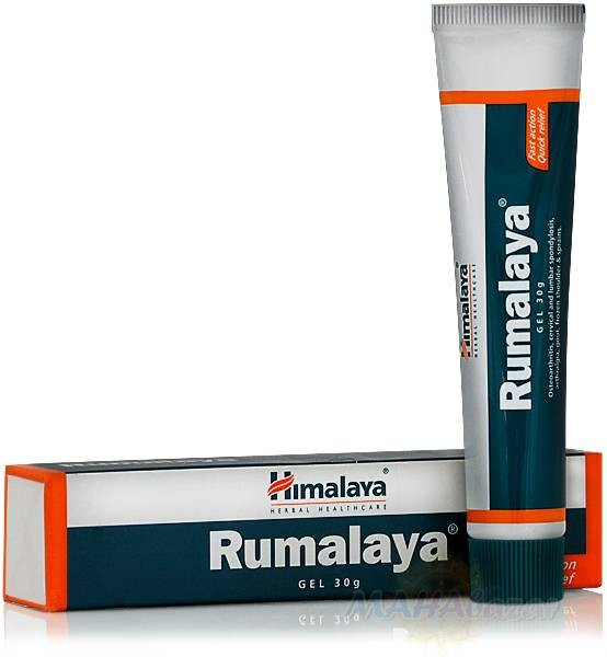 Румалая, гель обезболивающий, 30 г, производитель Хималая; Rumalaya Gel, 30 g, Himalaya