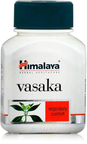 Васака, противокашлевое средство, 60 таб, производитель Хималая; Vasaka, 60 tabs, Himalaya