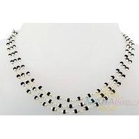 Туласи черная в серебре, 3 круга, 125 см, 11 г, диаметр - 3 мм, производитель МАХАбазар.ру